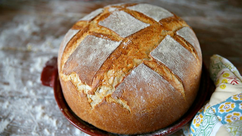 тесто для хлеба в домашних условиях в духовке без дрожжей